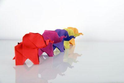 אוריגמי, פילים