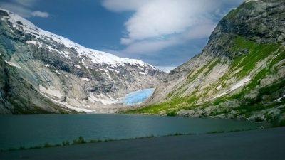 נורבגיה, הר, קרח, שלג, אגם
