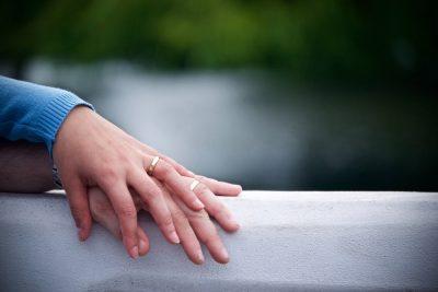 ידיים, זוג, ביחד, חתונה, אינטימיות