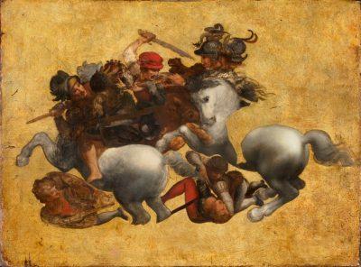 ליאונרדו דה וינצ'י, הכנה לקרב אנגיארי