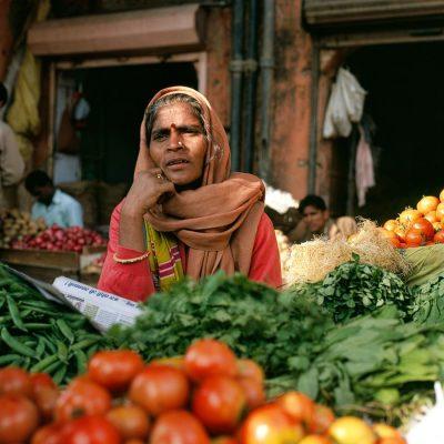 אישה, שוק, מוכרת, ורנאסי, הודו