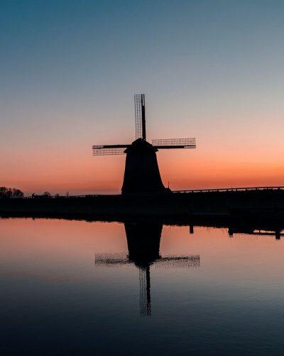 טחנת רוח, הולנד, נהר, תעלה