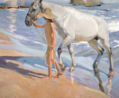 חואקין סורויה, רחצת הסוס