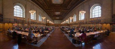 חדר קריאה, הספרייה הציבורית ניו יורק