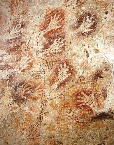 ציורי קיר, טביעות כף יד, בורנאו, אינדונזיה