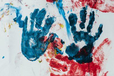 טביעות ידיים, ציור, ילדים
