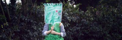 ילדה, שמלה ירוקה, ציור, דיוקן, פנים, ירוק