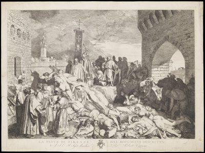 בוקצ'ו, המגפה של פירנצה, 1348