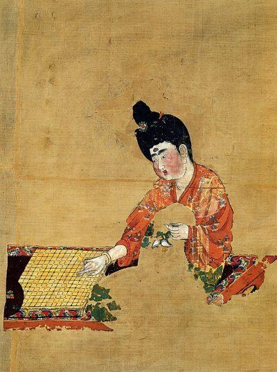 גו, שושלת טנג, אישה, משחק לוח