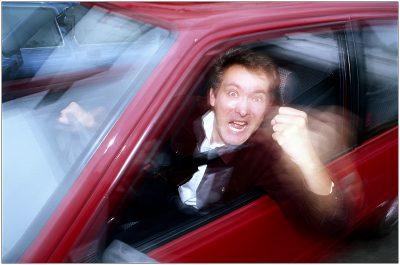 נהג, זעם, כעס, מכונית