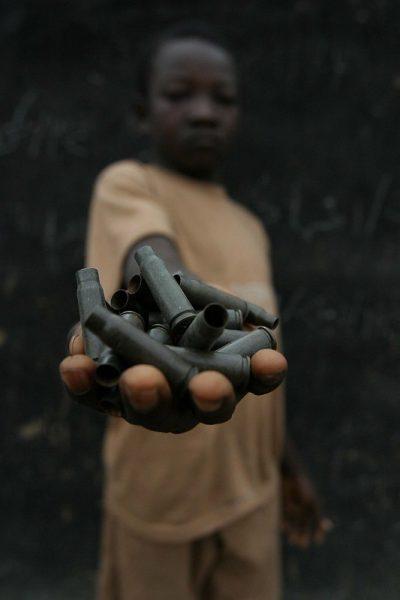 חיילים, ילד, מורדים, תרמילים, קליעים, הרפובליקה המרכז אפריקנית