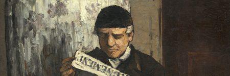 אביו של הצייר קורא עיתון, פול סזאן