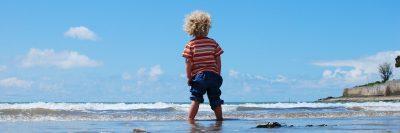 ילד, ים, חוף, שמיים