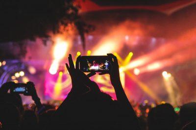 קהל, קונצרט, רוק, סלולרי, מופע