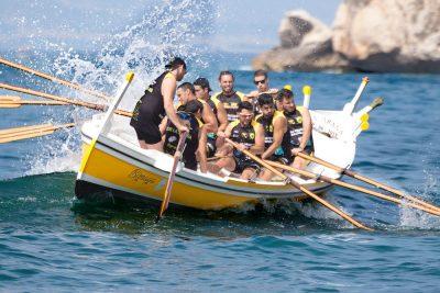 סירה, חותרים, ים, צוות, קבוצה