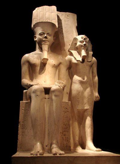 חורמחב, אמון, פיסול מצרי, פרעה