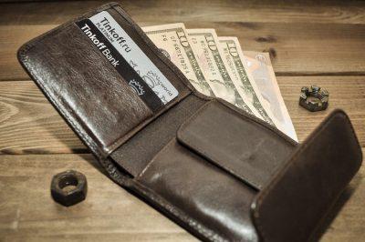 ארנק, גברי, שטרות, כסף