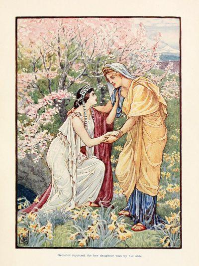 דמטר, פרספונה, אם ובתה