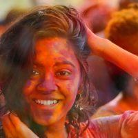 הולי, צבע, שמחה, פסטיבל, הודו, צעירה