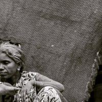 הודו, אישה, זקנה, ילדה, עוני