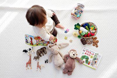 ילד, פעוט, חיות, משחק