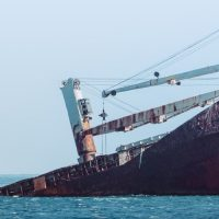 ספינה, טביעה, מכולות
